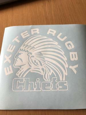 EXETER CHIEFS Rugby Wall Art Sticker Glass Decal Any flat surface Car Vinyl