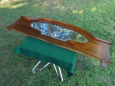 Antique Australian Blackwood Mirrored Chiffonier Back Sideboard Or Over Mantle