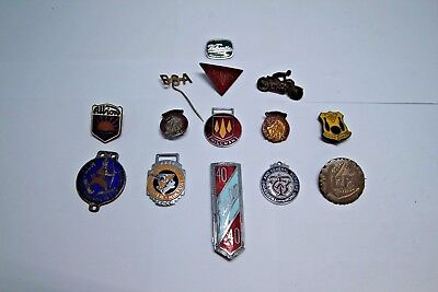 Collection of Rare and Antique Motoring Badges