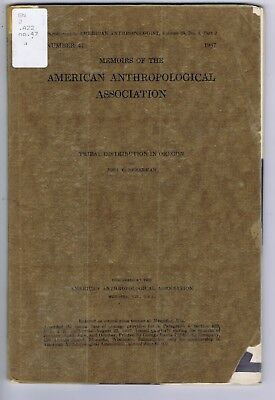 Tribal Distribution in Oregon Indian tribes history anthropology booklet 1937