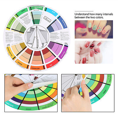 Artists Color Wheel Mixing Guide 23.5cm Diameter Nail Color Embroidery Wheel MR