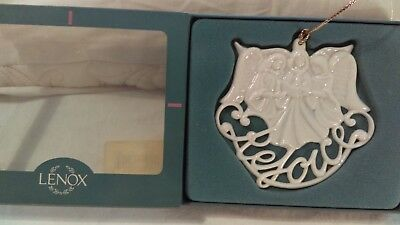 Lenox christmas ornament angels with Rejoice Under all ivory color