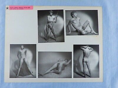 70's Physique Photography, Vintage Male Nude Model Card, Unique, Gay Interest