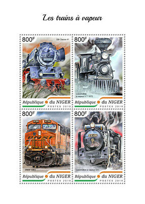 Z08 NIG18410a NIGER 2018 Steam trains MNH ** Postfrisch