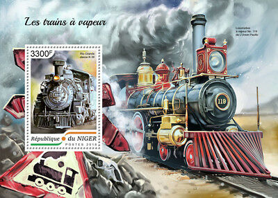 Z08 NIG18410b NIGER 2018 Steam trains MNH ** Postfrisch