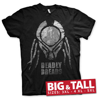 Officially Licensed Predator Deadly Dreads Iconic Big & Tall (3XL-5XL) Men's Tee