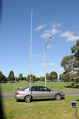 RADIO MAST  HAM PORTABLE 4X4 TELESCOPIC ALUMINIUM 8.5M High  NBS 2605 5 Section