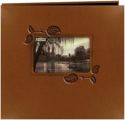 Pioneer Embossed Leatherette Framer Photo Album, Brown Ivy