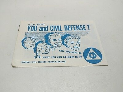 What About You And Civil Defense Booklet