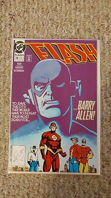 Flash #78. NM+. 9.6 Wally West as the Flash. Reverse Flash Appearence.