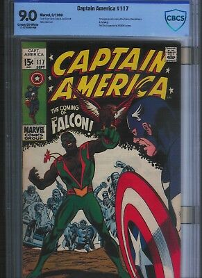 Captain America # 117 CBCS 9.0   Cream to Off White Pages. UnRestored.
