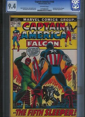 Captain America # 148 CGC 9.4  Off White Pages. UnRestored.