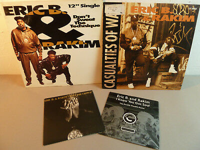 ERIC B. & RAKIM-COLLECTION -2xMaxis & 2 Singles - Old School-HipHop