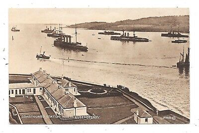 Printed Postcard Coastguard Station North Queensferry Fife Scotland With Ships