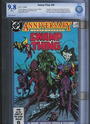 Swamp Thing # 50 CBCS 9.8  White Pages. UnRestored