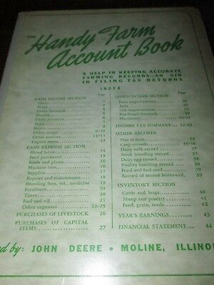 "John Deere ""The Handy Farm Account Book"" 1956-57-58"