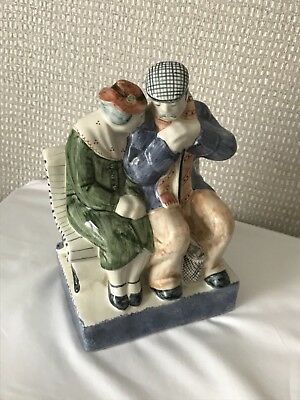 Rye Pottery. Couple on Bench