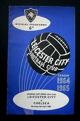 LEAGUE CUP FINAL PROGRAMME 1965, LEICESTER v CHELSEA (2nd leg), 5th April 1965