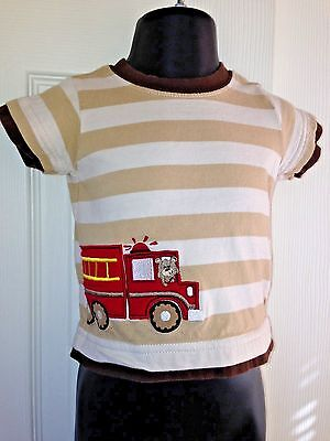 CARTERS CHILD OF MINE Multi-Color Striped Short Sleeve Cotton Novelty Top 6-9 M