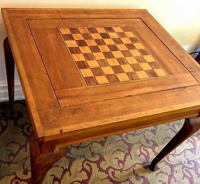 COOL REVERSIBLE VICTORIAN GAME TABLE ~ See all Photos Please
