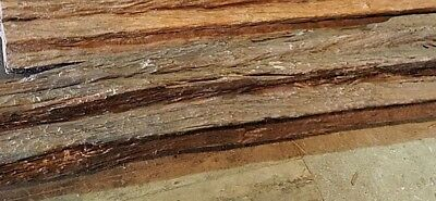 """Architectural Wood Beam / Solid Teak / 1900's / Natural / Raw / 96"""" x 8"""" x 8"""""""