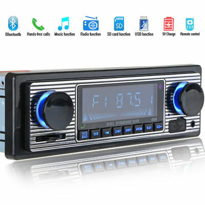 12V FM Car Stereo Radio Bluetooth Handsfree SD/USB AUX Head Unit
