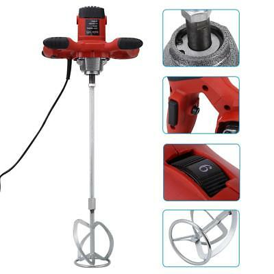 1500W Red Handheld 6 Speed Electric Mixer for Stirring Mortar Paint Cement Grout