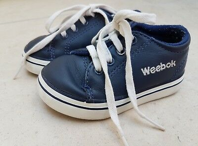 a7c1b7a74715c9 Baby Boy Toddler Infant Weebok by Reebok Shoes Size UK 4.5 EU21 navy blue  leathe
