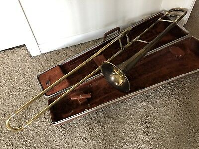 Vintage Besson Stratford Tenor Trombone with Case - WORKING!!