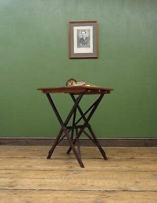 Antique Folding Campaign Style Pine Table by Cajac c1900