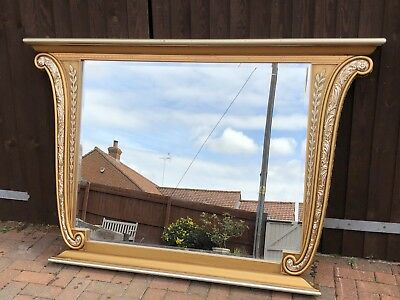 Very Large, Impressive, Ornate Cappelletti Gilt Over Mantle Mirror
