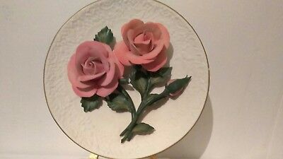 The Roses Of Capodimonte Limited Edition Franklin Mint Fine Bisque Porcelain
