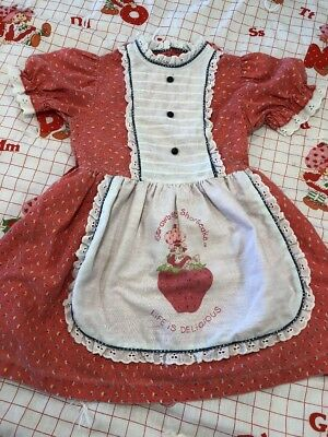 Toddler Vintage 1980s Strawberry shortcake Ruffle Dress - Super Cute S