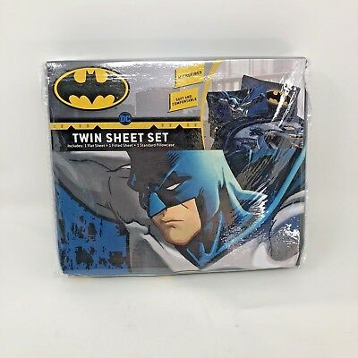 Batman Twin Bed Sheet Set New Microfiber Guardian Speed Dc