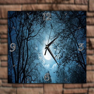 Black Forest Trees Full Moon Sky Home Deco Decor Kitchen Living Room Wall Clock