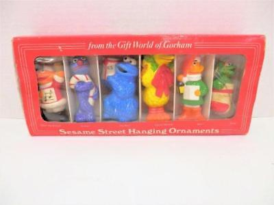 1977 Sesame Street Muppets Set Hanging Ornaments by Gorham in Box Ceramic