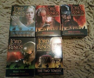 Lord Of The Rings Trading Card Game Starter Decks