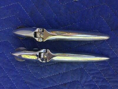 Hard To Find Original Pair Of Triumph Hood Trunk Chrome Hinges; Exc. Condition!!