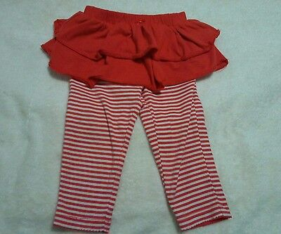 Infant Girls ,leggins With Skirt ,carter's Size 18 Months Free Shipping
