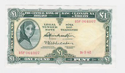 Ireland,central Bank Of Ireland Pick # 64 ,1961-77 ,1  Pound , See Scan Images