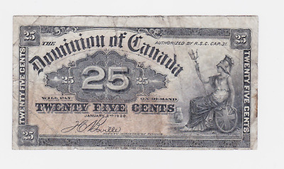 Canada ,dominion Of Canada ,1870-1923 ,25 Cents  ,  See Images