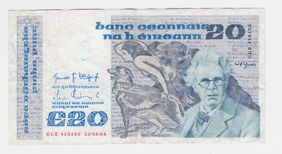 Ireland,central Bank Of Ireland Pick # 73,1976-93 , 20 Pound,see Scan Images
