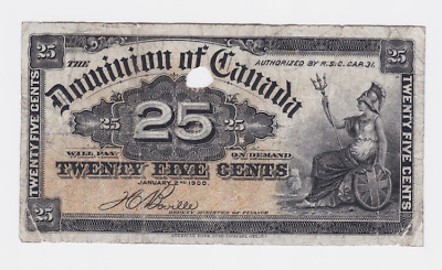 Canada , Dominion Of Canada ,1870 To 1923 ,25 Cents  ,  See Scan  Images