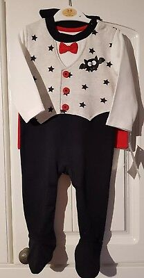 GEORGE Baby Boys 3-6 Months Long Sleeved COUNT DRACULA  Costume New With Tags 38