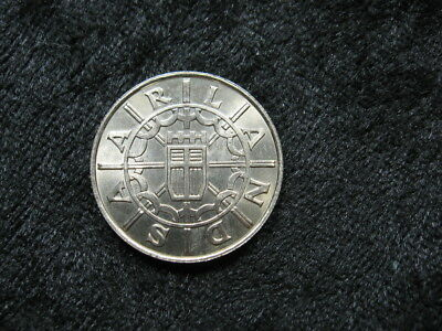 1 old world foreign coin GERMANY SAARLAND 100 franken 1955 KM4 1 year issue only