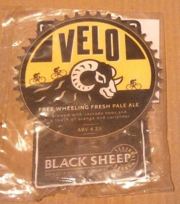 Beer pump clip badge front BLACK SHEEP brewery VELO ale Tour de Yorkshire NEW