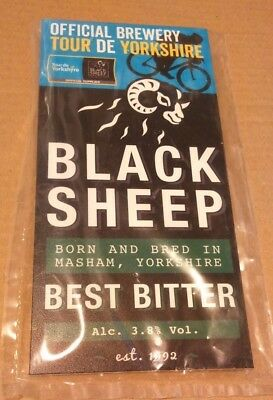 Beer pump clip badge front BLACK SHEEP brewery BEST BITTER tour de cask ale NEW