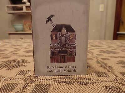 BOYDS Halloween Boos Haunted House Spidey McBibble Spider TREASURE Trinket BOX