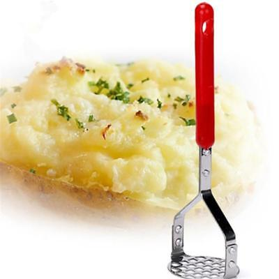 Stainless Steel Potato Masher & Ricer, Dishwasher Safe. Mash Vegetables Tool N7