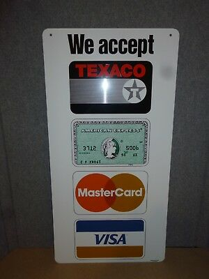 TEXACO Credit Card Sign Double Sided